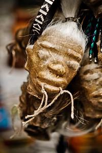 imitation shrunken head. Quito Ecuador