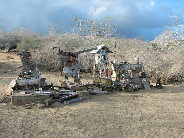 Floreana Post Office Box - Floreana - Galapagos Islands - Ecuador - ©2006 Margy Green