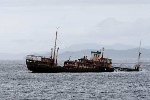 ship wreck. Beagle Channel Argentina
