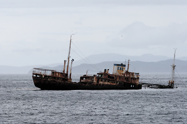 ship wreck. Beagle Channel Argentina
