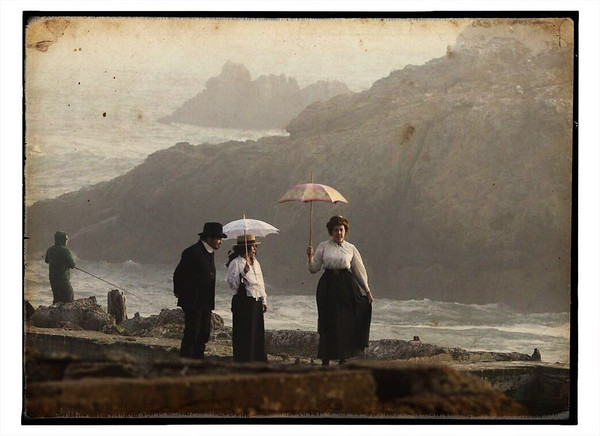 Looking back at the Sutro Baths.