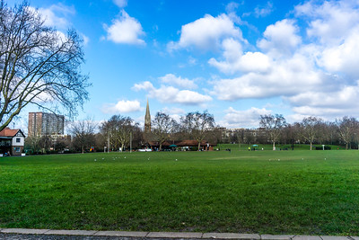 'Village Green' and cricket pitch