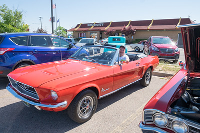 Parked in the old KMart parking lot in Southgate, Paul Mikolajewski is proud of his classic '68 Mustang. Hundreds of classic cars took to Fort Street for the 17th Annual Cruisin' Downriver Saturday, from Sibley Road in Riverview to Warwick in Lincoln Park. Photos by Matt Thompson, Copyright 2016 The News-Herald