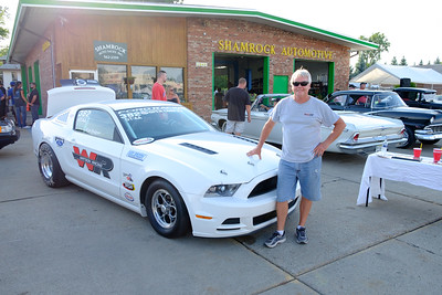 Rick Rodgers stopped off at Shamrock Automotive in Dearborn to show off his 2014 Cobra Jet Mustang. Car enthusiasts from all over lined Telegraph, from Taylor to Redford Saturday for the annual Telegraph Cruise. Photos by Matt Thompson, Copyright 2016 The News-Herald and Press & Guide