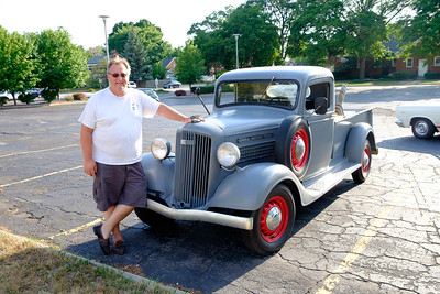 John Pierce of Dearborn proudly shows off his 1936 GMC T-14 Pickup. Only the second owner, John bought the car from Dearborn resident Joseph Fundaro at Fundaro's grocery store on Warren in 1970. Car enthusiasts from all over lined Telegraph, from Taylor to Redford Saturday for the annual Telegraph Cruise. Photos by Matt Thompson, Copyright 2016 The News-Herald and Press & Guide