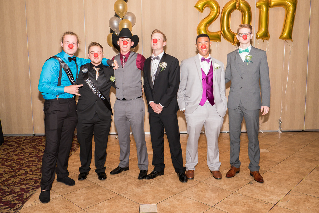 . Since the prom was held on Red Nose Day, the Kennedy Senior Class made a donation by purchasing red noses for all attendees. Red Nose Day was founded by Comic Relief to help end child poverty by raising money and awareness for children in need in the U.S. and around the world.  Photo by Debbie Malyn for The News Herald.