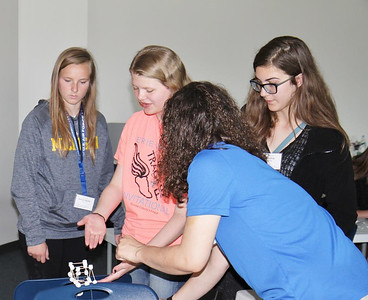 "The American Association of University Women, Wyandotte branch,recently hosted its third annual ""Tech Savvy"" program at the Wayne County Community College District in Taylor. The event was an all day science, technology, engineering and math — or STEM — conference aimed at girls in sixth through ninth grades. The conference was designed to increase their awareness of the variety of science-oriented careers in the Downriver, or southeastern Michigan region."