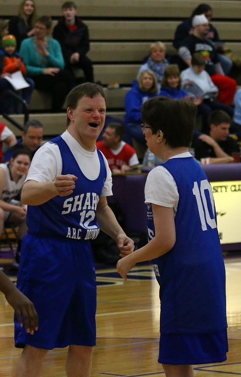 . The game showed the true joy of competition by the players with the  Downriver ARC Program, which works with children and adults who have varying levels of intellectual and developmental diseases, and the compassion of varsity basketball players from the boy�s and girl\'s� team who played against them.   By Mike Elliott � For the News-Herald