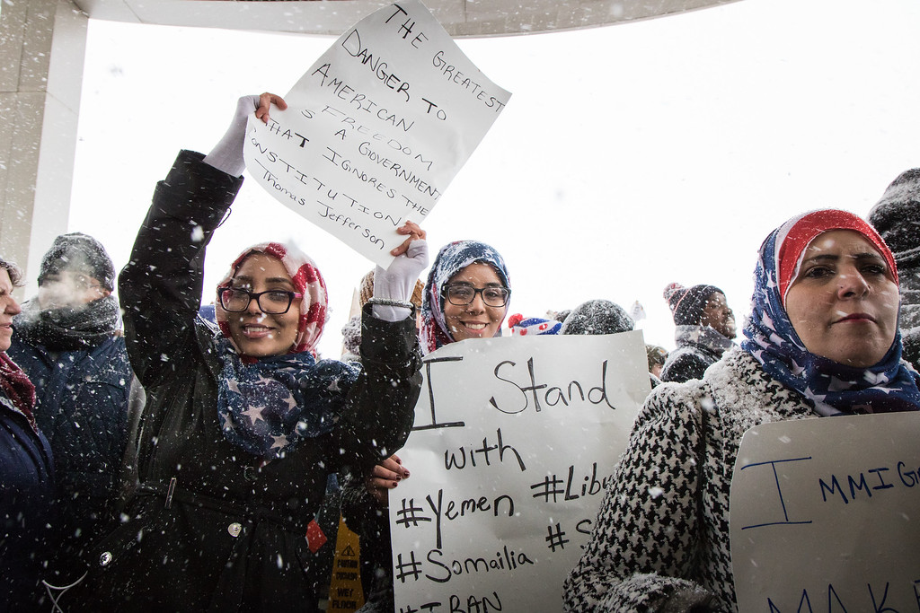 . Khulud, Shayma and Aman Fidama from Dearborn. Photo by Debbie Malyn for the News Herald and Digital First Media.