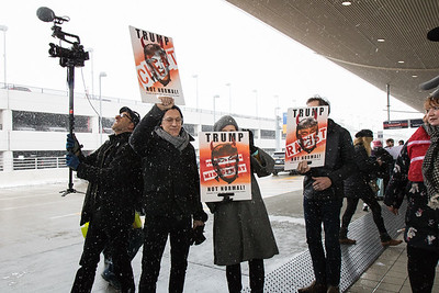 Serveral groups partnered to organize local protests agains President Donald Trump's immigration ban. One such protest took place across several areas at Detroit Metro Airport on Sunday, January 29, 2017 and had huge turnout. Photo by Debbie Malyn for the News Herald and Digital First Media.