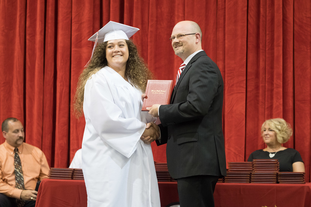 . Huron High School held their 2017 Comencement on Friday, June 2 in the school gymnasium. Photos by Matt Thompson for The News-Herald