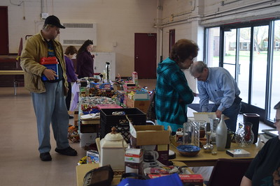 There were about a dozen vendors who set up tables selling all kinds of items at the first Lincoln Park Historical Museum Flea Market held April 22 at the Kennedy Memorial Building in the city. Dave Herndon - The News-Herald