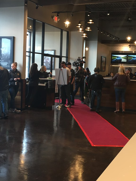 . Mark Wahlburg was in town Sunday evening for a VIP event for the Taylor Wahlburgers, which will be opening soon. Dave Herndon - The News-Herald