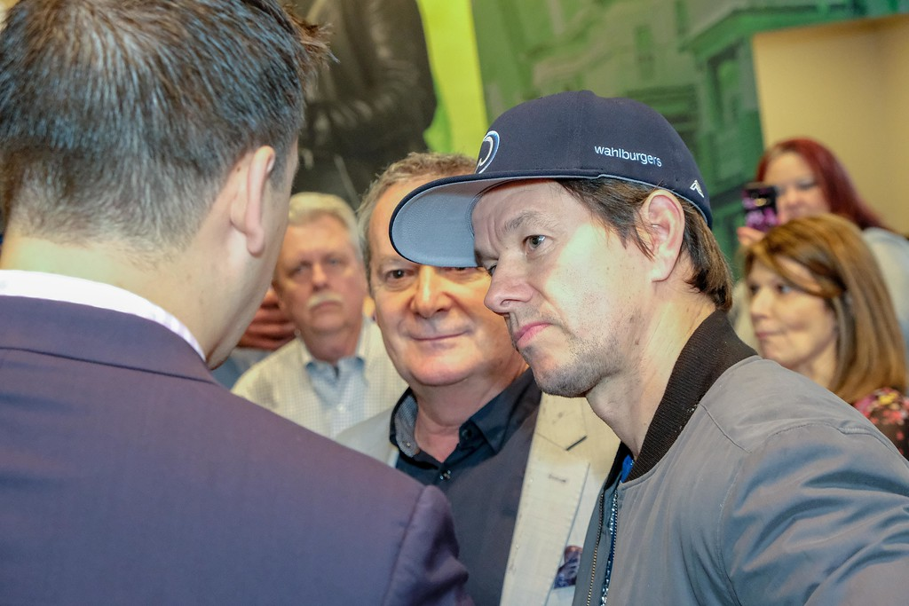 . Mark Wahlburg was in town Sunday evening for a VIP event for the Taylor Wahlburgers, which will be opening soon. Photos by Matthew Thompson for The News-Herald