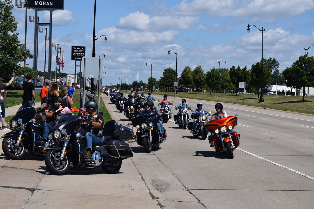 . The 2017 Ride for Autism was the 13th year for the charity run. Proceeds raised by the motorcycle run, which ended at Biker Bob\'s Harley Davidson in Taylor, go to support events for families of Autistic people. The charity puts on several parties each year at no charge to the families.  Dave Herndon - The News-Herald