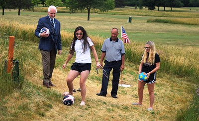"""The Footie at South Winds"" is the newest craze in sports to hit the city of Southgate. The new course, which is attached to a previously unused section of the the city-owned golf course, is for a sport that combines soccer and golf into a new way to have fun."