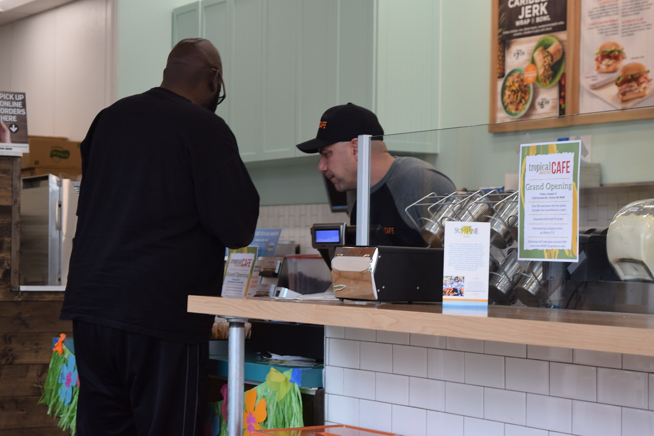 Aug. 11 was the official grand opening for the Eureka Road location of the Tropical Smoothie Cafe in Taylor.  Dave Herndon - The News-Herald