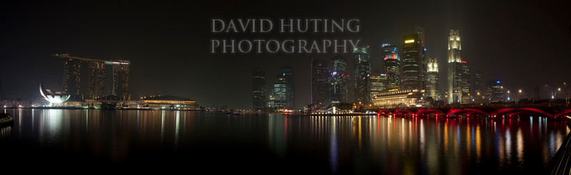 Singapore City View Night Panoramic