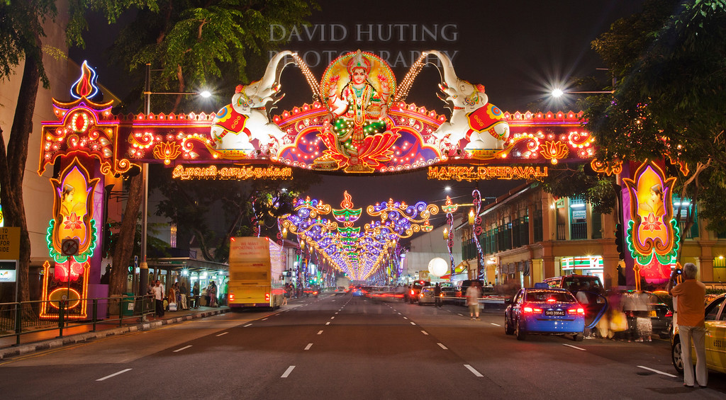 Little India road night crop