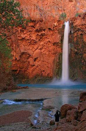 Mooney Falls - Catching a Photo