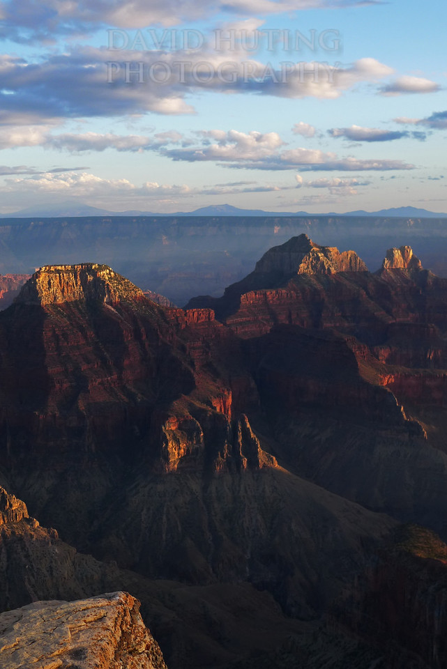 Grand Canyon Sunset Peaks Vertical