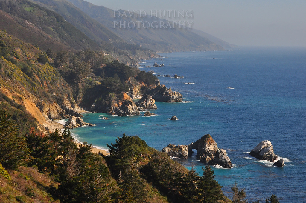 Rocky Coastline View near Big Sur