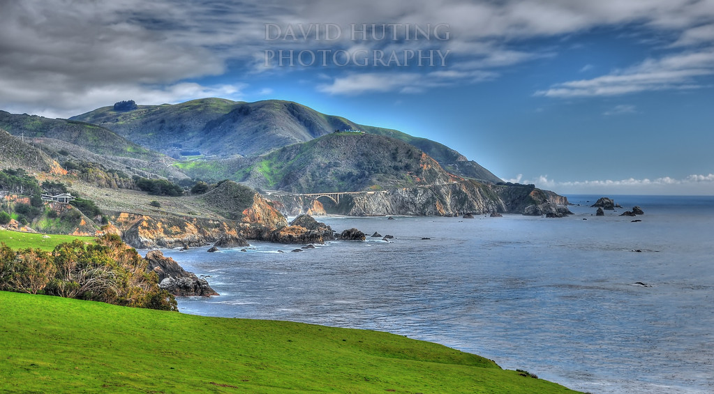 Bixby Bridge View - Green Hills (HDR)