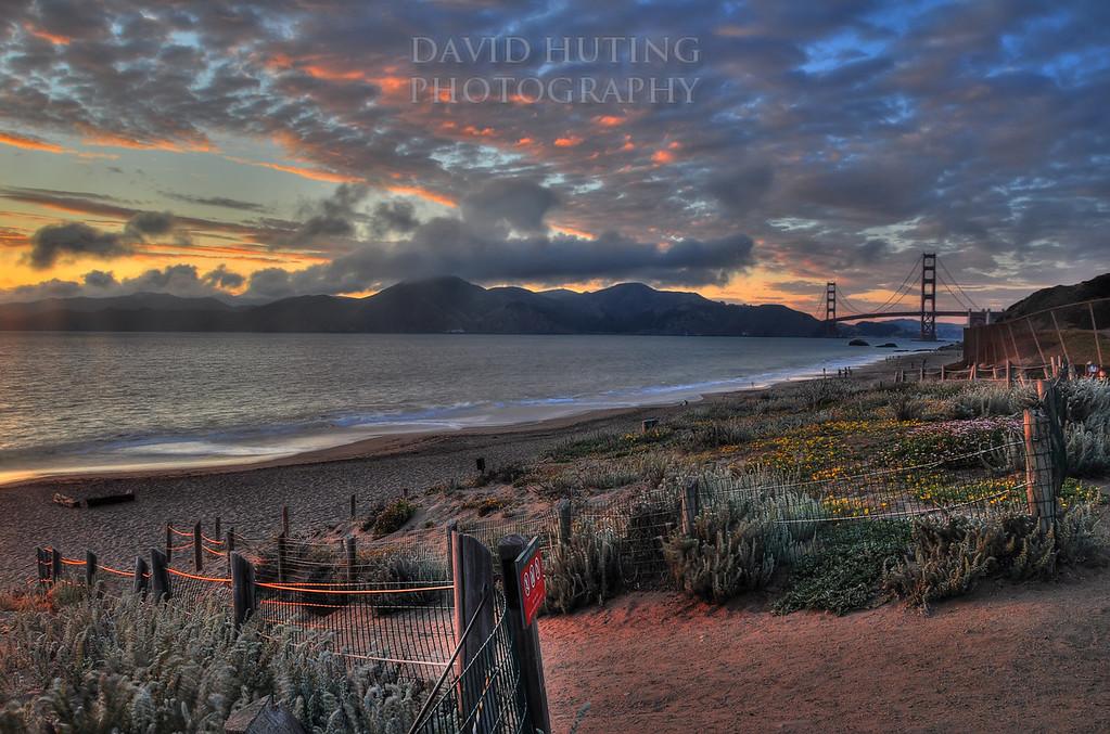 Baker Beach Sunset<br /> HDR
