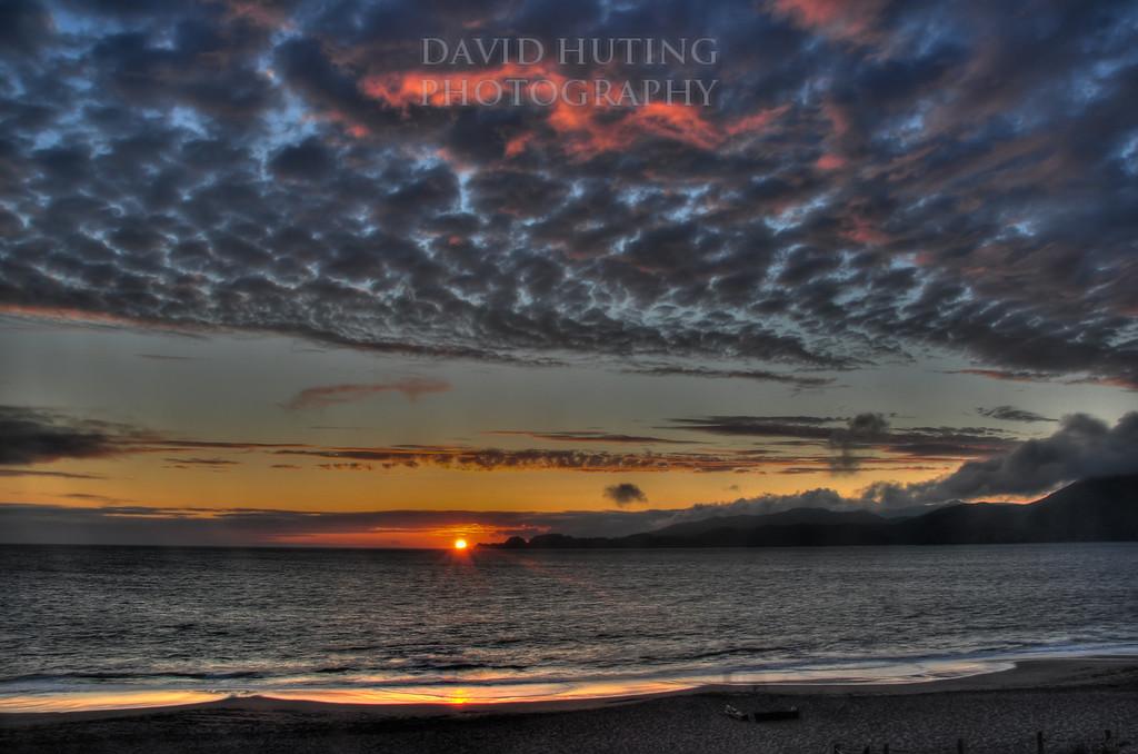 Sunset on Baker Beach<br /> HDR