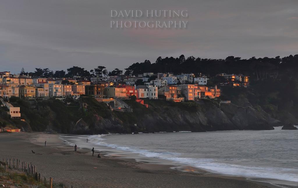Last Light Hitting Baker Beach Houses