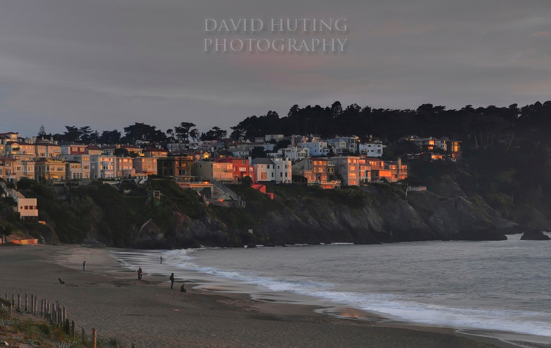 Last Light Hitting Baker Beach Houses