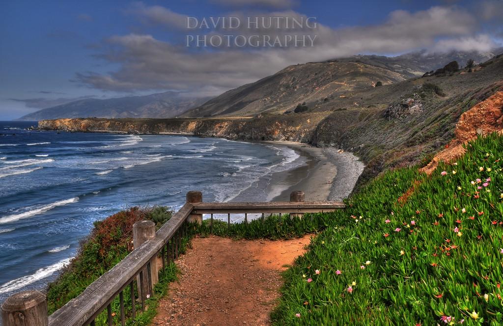 Sand Dollar Beach Coastline View<br /> (HDR) - Near Big Sur, CA