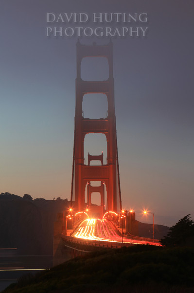 Dusk on the Golden Gate Bridge