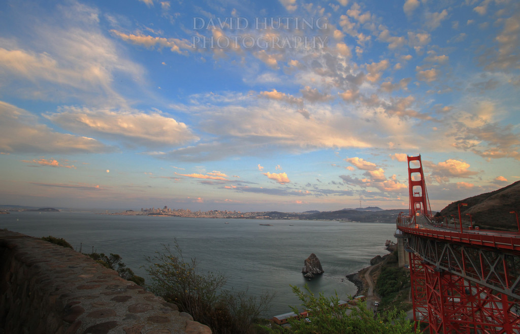 GGB Lookout Sunset HDR
