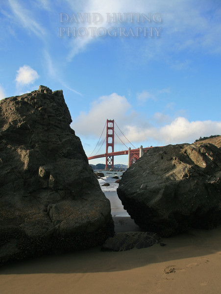 Rocky Beach View of the Golden Gate Bridge