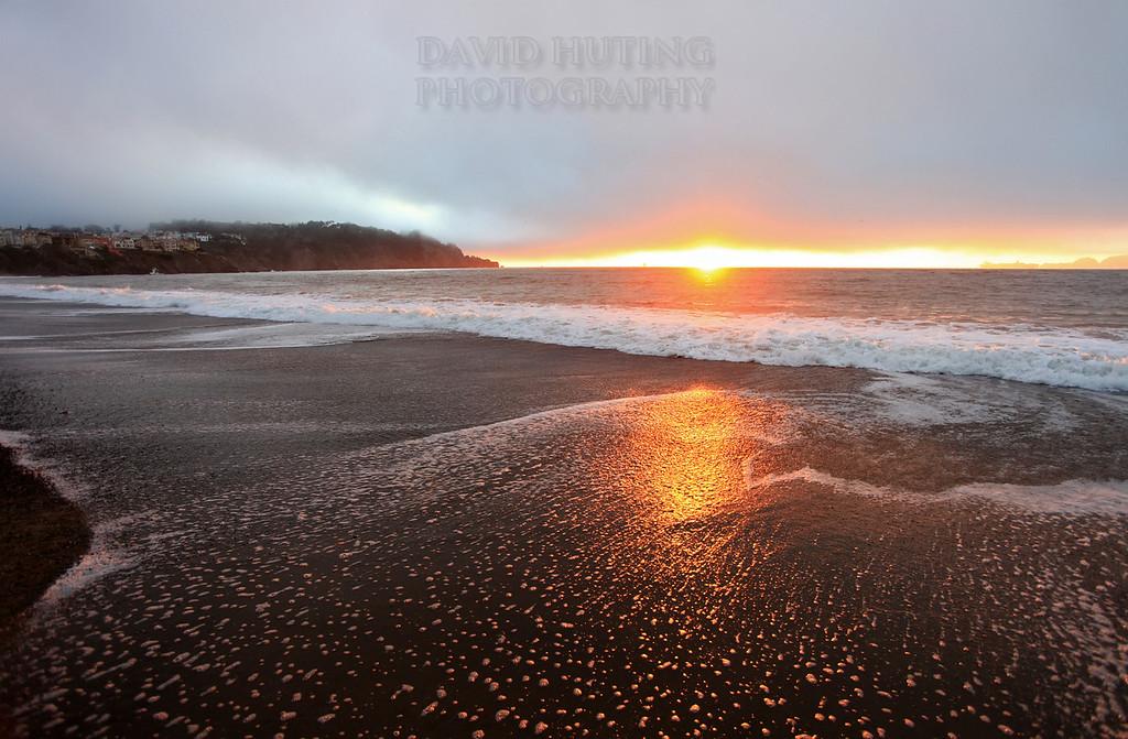 Baker Beach Wideangle Sunset