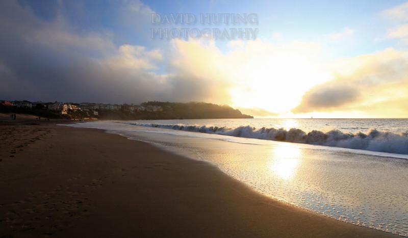 Bright Baker Beach Sunset View