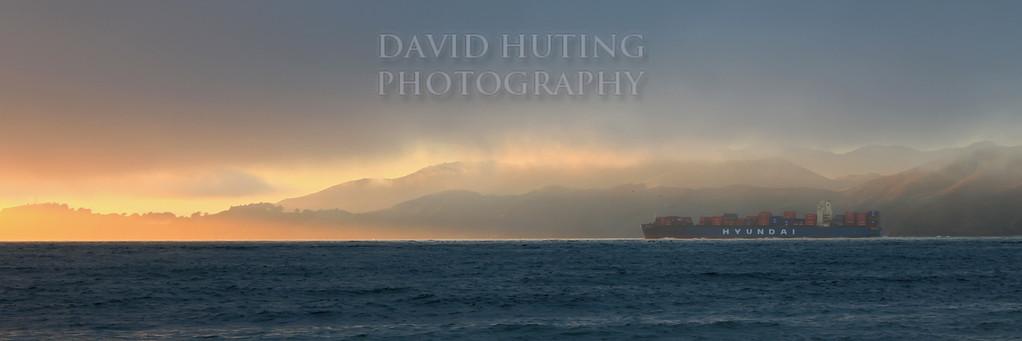 Sunset Ship Pano