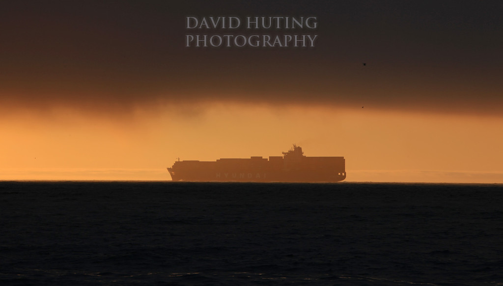 Golden Ship Silhouette