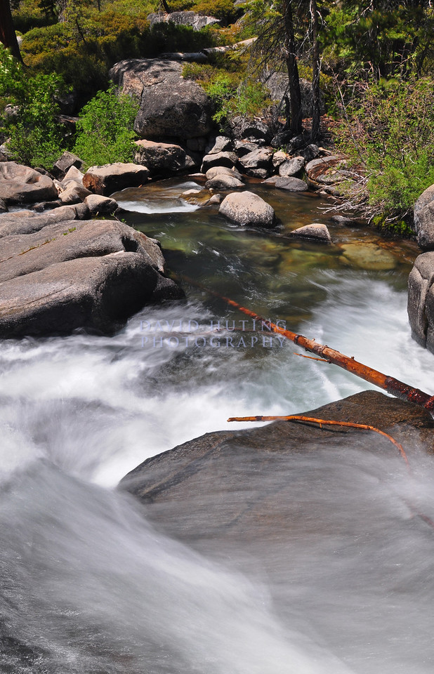Flowing Falls of Caple Creek<br /> The Sierras