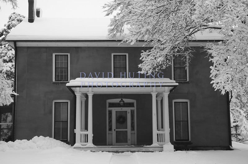 The old Farm House Museum in B&W