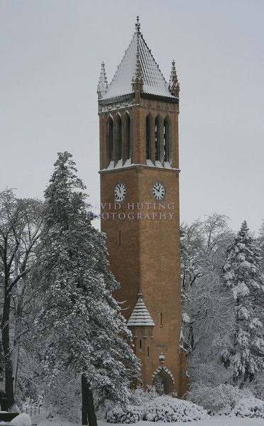 Snow-covered Campanile