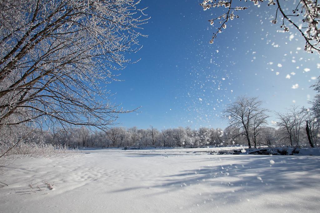 Beach view - snowy blast