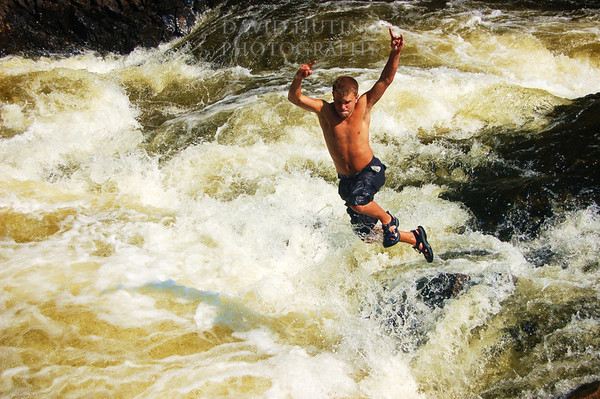 Me Jumping into the Rapids at the Gorge