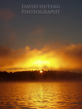 Golden Sunrise on Crane Lake<br /> (Vertical)