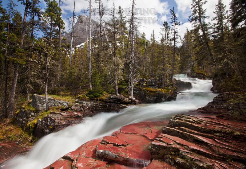 Glacial Meltwater - Virginia Falls Trailf