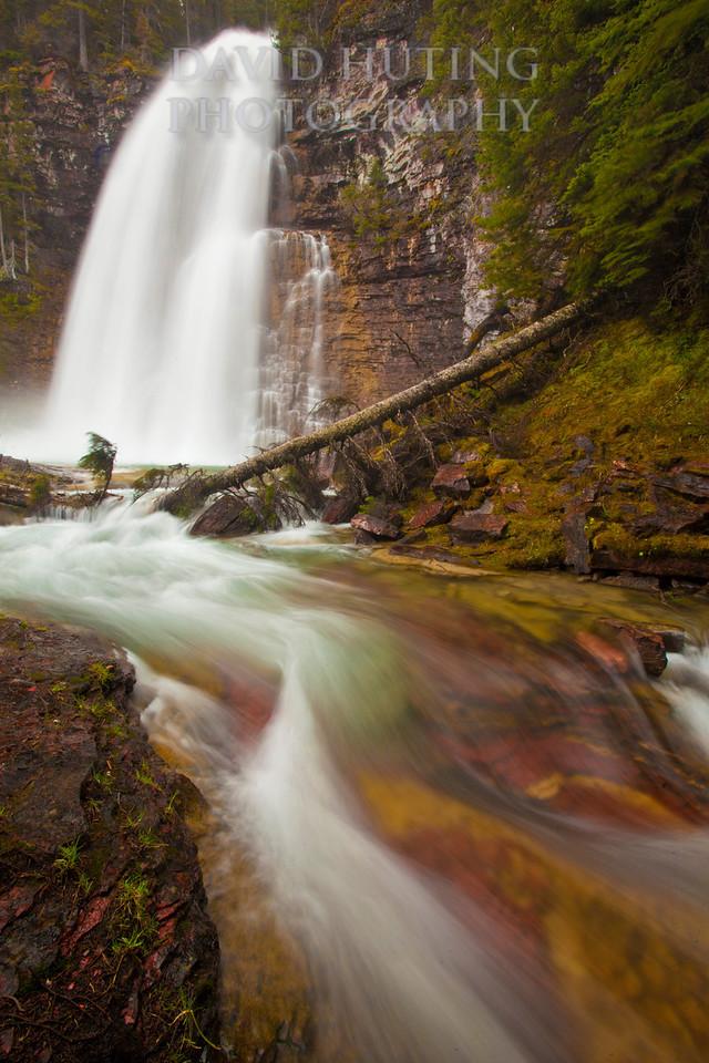 Virginia Falls Flowing - Red Rocks Vert