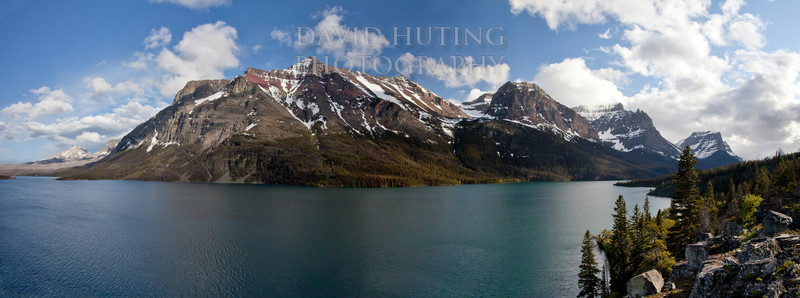 Glacier National Park Panoramic - Saint Mary Lake