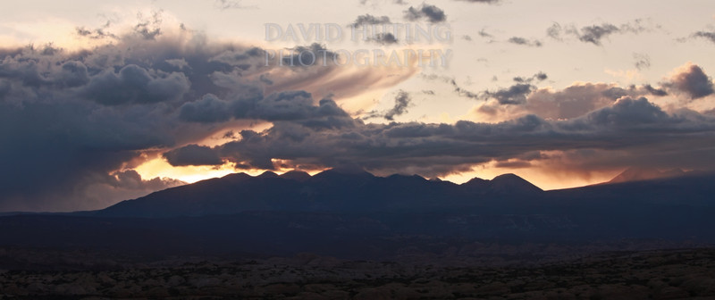 La Sal Mountain Sunrise Panoramic