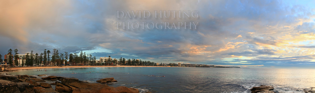 Manly Colorful Sunrise Panoramic